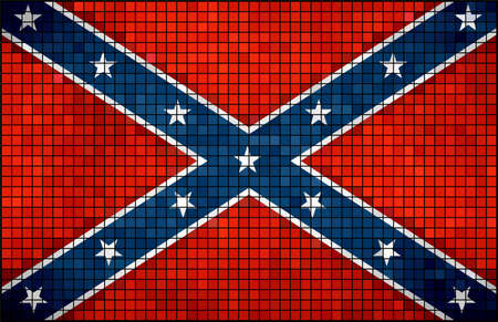 confederacy: Confederate flag,  Abstract mosaic grunge Confederate Flag,  The Blood-Stained Banner,  Flags of the Confederate States of America,  Grunge mosaic flags of the Confederacy,  Abstract grunge mosaic vector Illustration