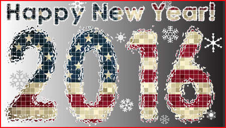 numerals: Happy New Year 2016, Happy New 2016, 2016 HAPPY NEW YEAR NUMERALS,  Pocket calendar 2016,   Business card 2016 calendar