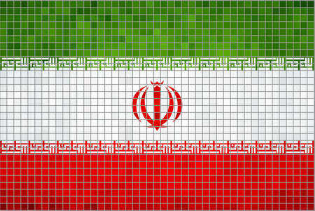 iran mosaic: Flag of Iran,  Abstract Mosaic Flag of Iran,  Grunge Iran Flags,   Iranian flag,  Islamic Republic of Iran Flag,   Abstract grunge mosaic  Illustration