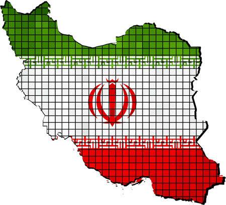 iranian: Iran map with flag inside, Iran map grunge mosaic, Iranian flag in mosaic,  Abstract grunge mosaic