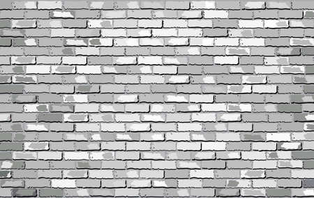 bakstenen muur: White Brick Wall,  Retro white brick wall Vector,  Seamless realistic white brick wall,  Brick wall background