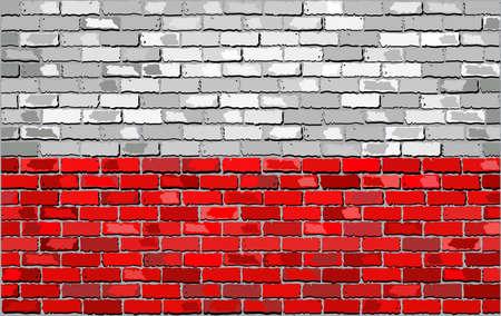 polish flag: Grunge flag of Poland on a brick wall, Polish Flag - Polands Flag, Poland flag on brick textured background,  Flag of Poland painted on brick wall, Flag of Poland in brick style,  Abstract grunge Polish flag