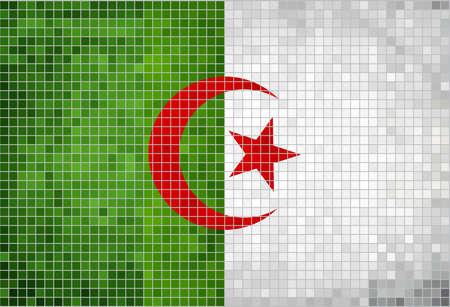 algerian flag: Flag of Algeria,  Abstract Mosaic Flag of Algeria,  Grunge Algeria Flags,   The Algerian Flag,  Abstract grunge mosaic vector