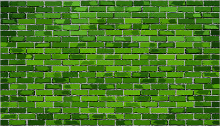 Green brick wall,  Retro green brick wall vector,  Seamless realistic green brick wall,  Brick wall background,  Abstract vector illustration