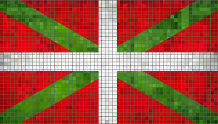 pays: Basque flag,  Pays Basque flag,   Ikurrina,  Flag Of Basque Country,  Abstract Mosaic Flag of Basque,  Grunge Flag of Basque Flags,   Abstract grunge mosaic vector Illustration