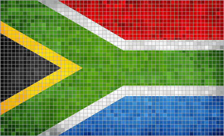 south african: Flag of South Africa - Illustration,  Abstract Mosaic The South African Flag,  Grunge mosaic Flag of South Africa,  Abstract grunge mosaic vector