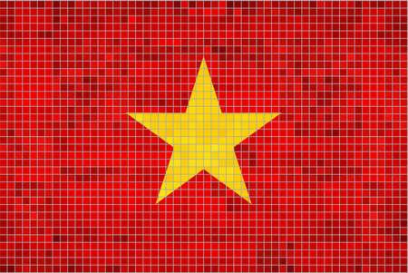 viet nam: Flag of Vietnam Illustration