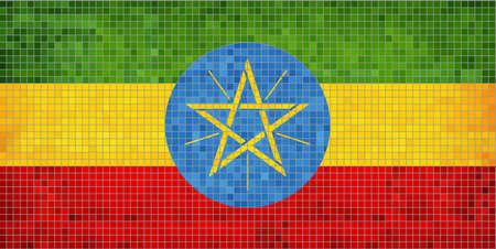 ethiopian: Ethiopian Flag  Illustration