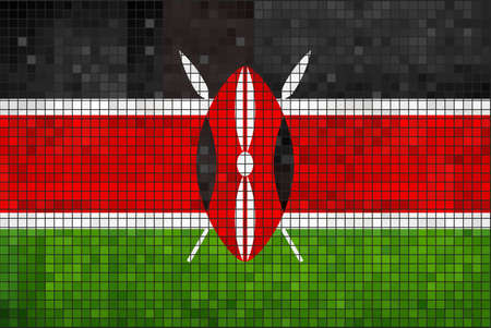 kenya: Flag of Kenya  Illustration