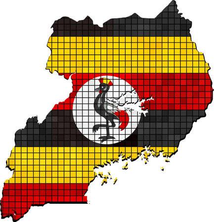 tanzania: Tanzania map with flag inside
