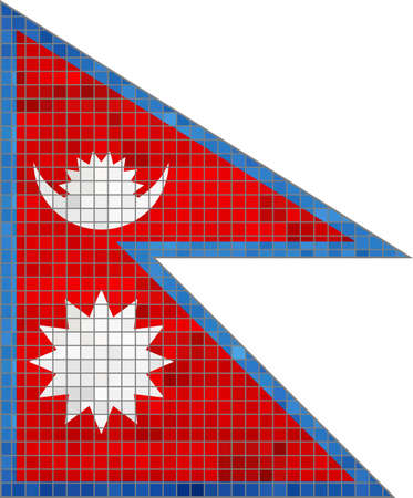 nepal: Nepal Flag - Illustration,  Abstract Mosaic Nepal Flag,  Grunge mosaic flag of Nepal,  Abstract grunge mosaic vector Illustration