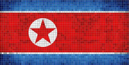 korean national: Flag of North Korea - Illustration, North Korean Flag,  Abstract Mosaic Flag of Korea,  The National flag of South Korea,  Abstract grunge mosaic vector