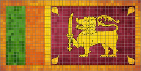 sri lankan flag: Flag of Sri Lanka - Illustration,  Abstract Mosaic The Sri Lankan Lion flag,  Grunge mosaic Flag of Sri Lanka,  Abstract grunge mosaic vector Illustration