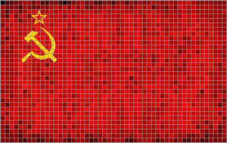 Flag of the Soviet Union - Illustration,  Abstract Mosaic USSR flags,  Grunge mosaic Flag of Soviet Union,  Abstract grunge mosaic vector