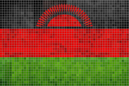 malawian: Flag of Malawi - Illustration,  Abstract Mosaic Malawian Flags,  Grunge mosaic Flag of Malawi,  Abstract grunge mosaic vector Illustration