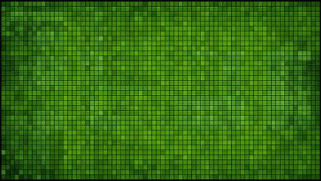 Zielona abstrakcyjne tło mozaiki - Ilustracja, Mozaika grunge, kwadraty światła i ciemności zielony, zielony kształty mozaiki stylu Ilustracje wektorowe