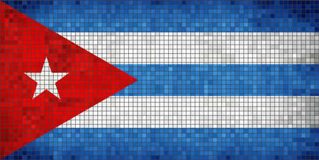 cuban flag: Flag of Cuba - Illustration,  Abstract Mosaic of Cuba flag,  Grunge mosaic The Cuban Flag,  Abstract grunge mosaic