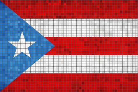 puerto rican: Flag of Puerto Rico - Illustration,  Abstract Mosaic of Puerto Rican flags,  Grunge mosaic Puerto Ricos flag,  Abstract grunge mosaic Illustration