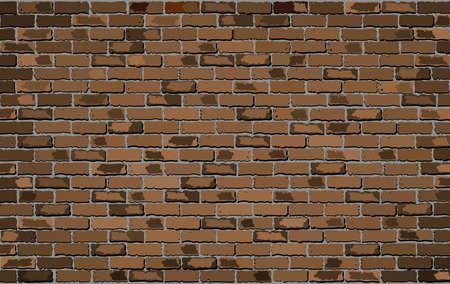 browning: Brown brick wall - Illustration,  Shades of brown brick wall vector,  Seamless realistic Light And Dark brown colour brick wall,  Abstract grunge vector illustration Illustration