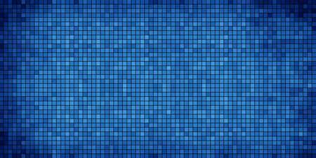azure: Blue abstract mosaic background - Illustration,  Azure Mosaic grunge background,  Squares Of Light And Dark blue,  Blue shapes of mosaic style Illustration