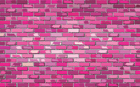stone background: Pink brick wall - Illustration Illustration