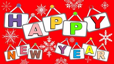 幸せな新しい年の図では、2017 新年あけましておめでとう、大晦日のパーティー、新年挨拶碑文