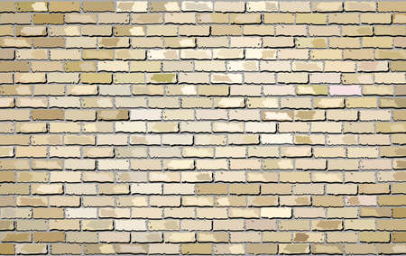 Beige brick wall effect - Illustration,  Shades of beige brick wall brick wall vector Ilustração