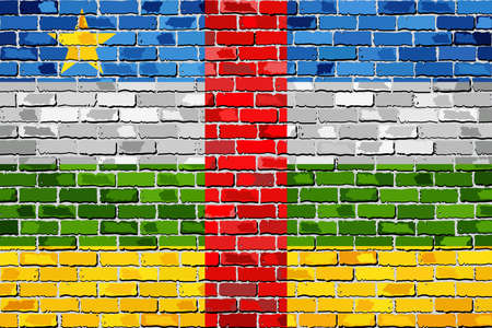 Flag of Central African Republic on a brick wall