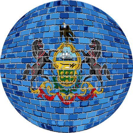 Ball with Pennsylvania flag 向量圖像