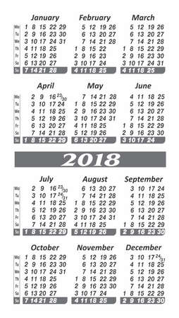 Year 2018 calendar icon.
