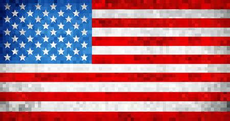 グランジUSAフラグ - イラスト、アメリカの旗の写真とベクトル。