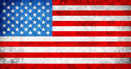 Grunge USA flag - Illustration, USA flag pictures and vector.