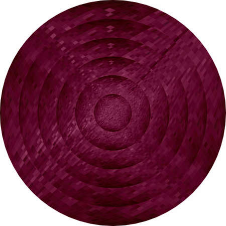 Concentric burgundy circles in mosaic  Illustration, Burgundy button in mosaic style Ilustracja