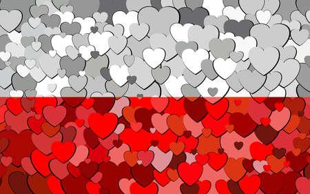 Polish flag made of hearts background - Illustration,  Flag of Poland with hearts background Illusztráció