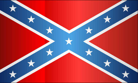 Grunge Confederate Flag - illustration, The Blood-Stained Banner