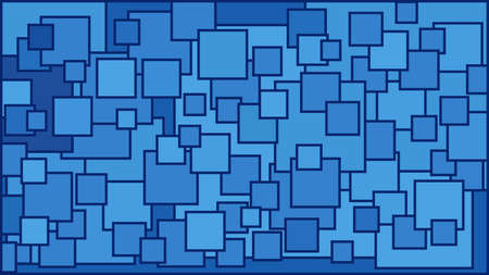 Squares in various shades of blue background - Illustration,  Illustration with squares,  Blue squares background