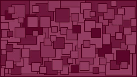 Squares in various shades of burgundy background - Illustration,  Illustration with squares,  Cyclamen squares background
