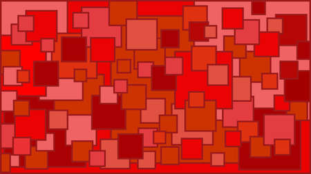 Squares in various shades of red background - Illustration,  Illustration with squares,  Red squares background
