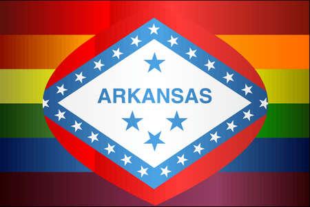 Grunge Arkansas and Gay flags - Illustration, Abstract grunge Arkansas Flag and LGBT flag Ilustrace