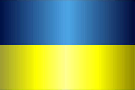 Grunge flag of Ukraine - Illustration,  Abstract grunge Ukrainian flag Çizim