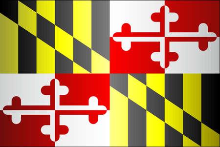 Grunge flag of Maryland - illustration,  The flag of the state of Maryland Ilustrace