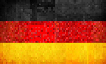 Grunge mosaic Flag of Germany - illustration,  Flag of Deutschland,  Abstract grunge mosaic vector