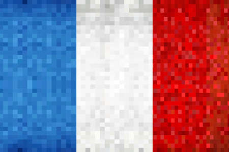 Grunge mosaic Flag of France - illustration,  Flag of France,  Abstract grunge mosaic vector