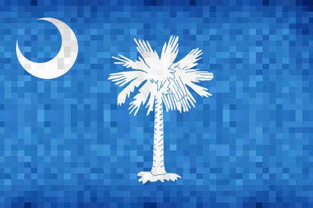 Abstract grunge mosaic flag of South Carolina - illustration,  The flag of the state of South Carolina