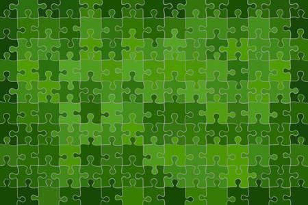 Green grunge puzzle background - Illustration