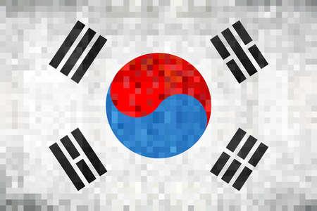 Grunge mosaic Flag of South Korea - Illustration,  Abstract grunge mosaic vector Ilustrace