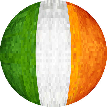 Ball with Ireland flag - Illustration,  Sphere Ireland Flag vector Illustration