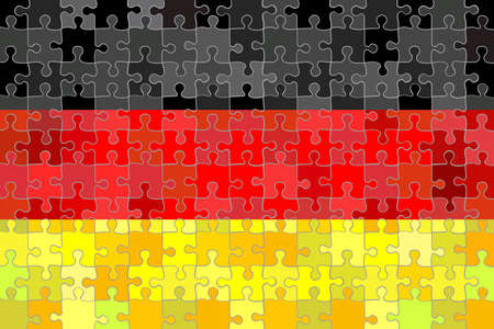 Germany flag made of hearts background - Illustration