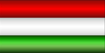 Shiny flag of the Hungary - Illustration,  Three dimensional flag of Hungary