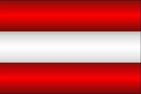 Shiny flag of the Austria - Illustration,  Three dimensional flag of Austria
